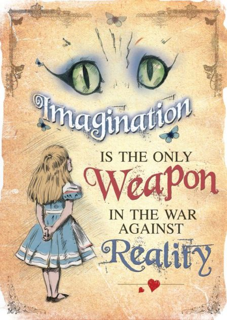 Lewis Carroll, Alice in Wonderland, Imagination, Reality,
